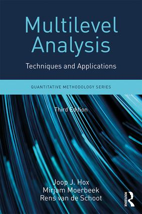 Multilevel Analysis: Techniques and Applications, Third Edition book cover
