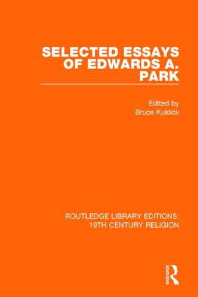 Selected Essays of Edwards A. Park book cover
