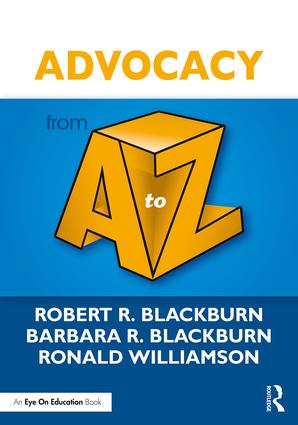 Advocacy from A to Z: 1st Edition (Paperback) book cover