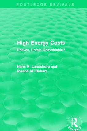 High Energy Costs: Uneven, Unfair, Unavoidable? book cover