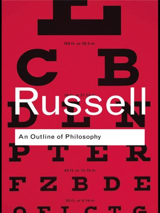 An Outline of Philosophy: 1st Edition (Hardback) book cover