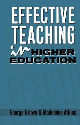 Effective Teaching in Higher Education: 1st Edition (Hardback) book cover