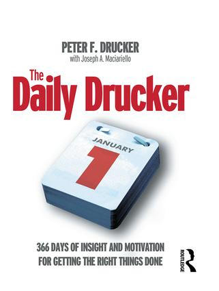 The Daily Drucker: 1st Edition (Paperback) book cover