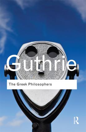 The Greek Philosophers: from Thales to Aristotle book cover