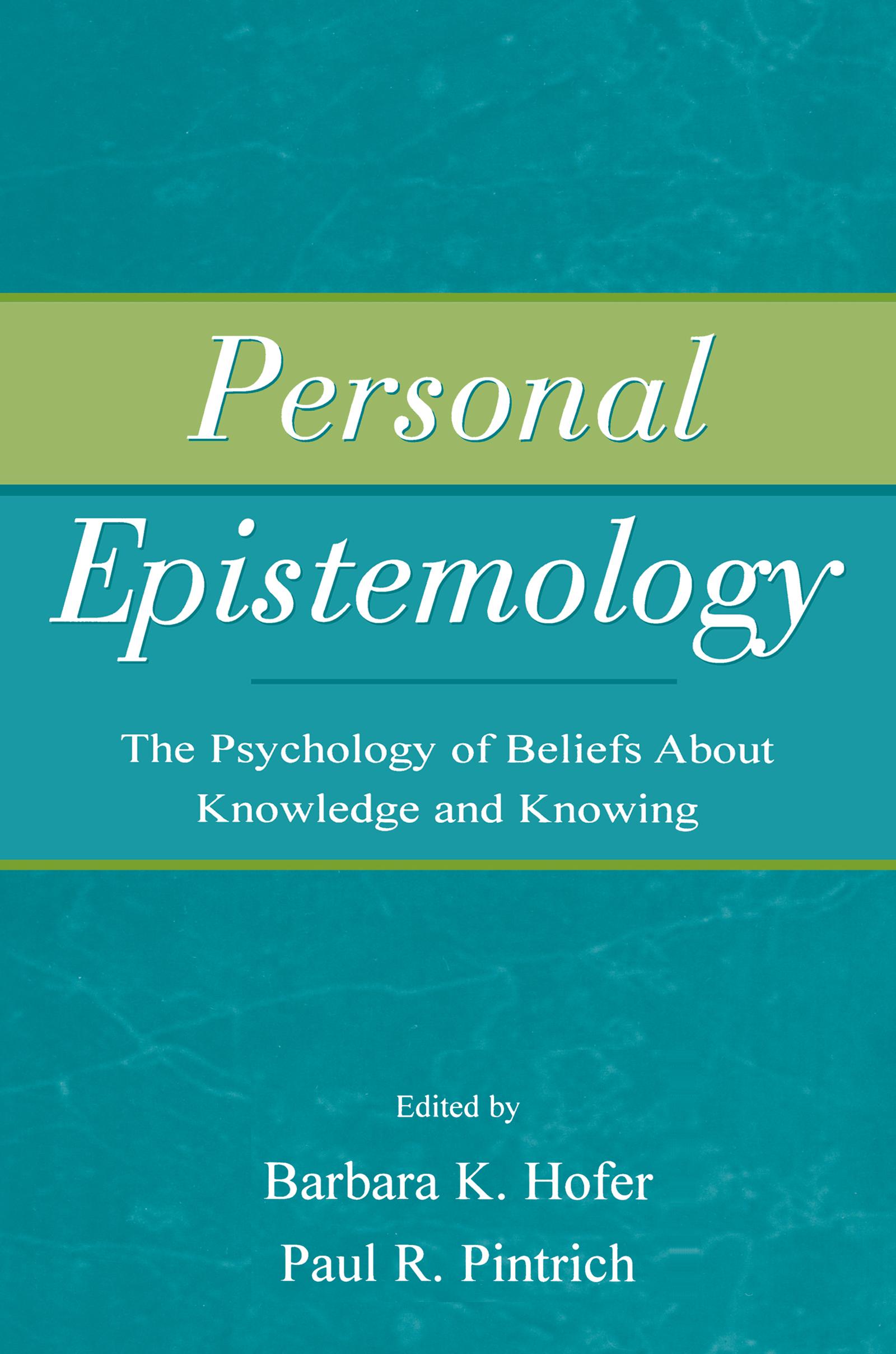 Personal Epistemology