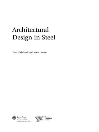 Architectural Design in Steel: 1st Edition (Hardback) book cover