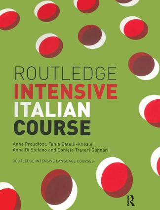 Routledge Intensive Italian Course book cover