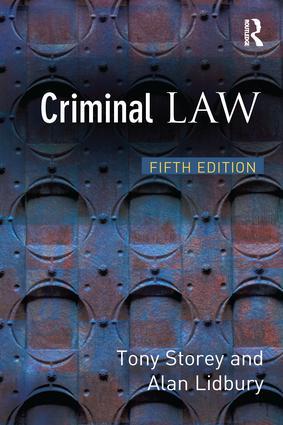 Criminal Law: 5th Edition (Hardback) book cover