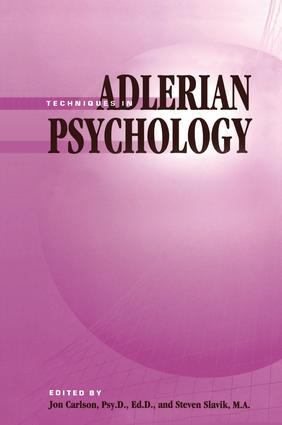 Techniques In Adlerian Psychology