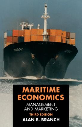 Maritime Economics: Management and Marketing, 3rd Edition (Hardback) book cover