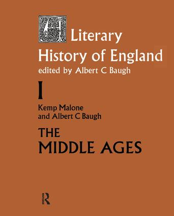 A Literary History of England: Vol 1: The Middle Ages (to 1500) book cover