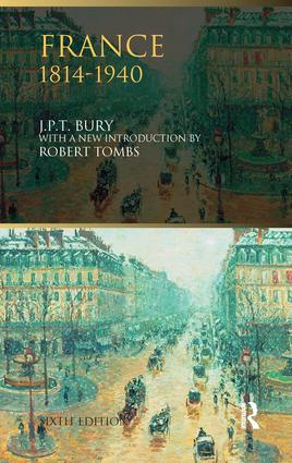 France, 1814-1940: 6th Edition (Hardback) book cover