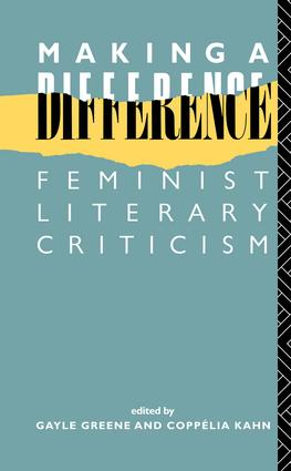 Making a Difference: Feminist Literary Criticism book cover
