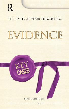 Key Cases: Evidence: 1st Edition (Hardback) book cover