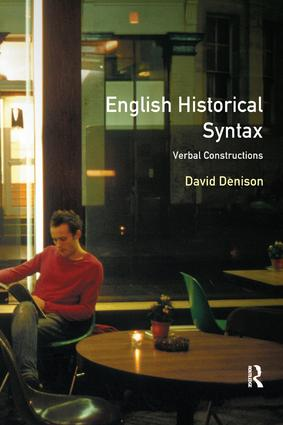 English Historical Syntax: 1st Edition (Hardback) book cover