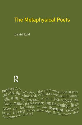 The Metaphysical Poets: 1st Edition (Hardback) book cover