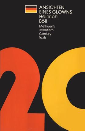 Ansichten eines Clowns: 1st Edition (Hardback) book cover