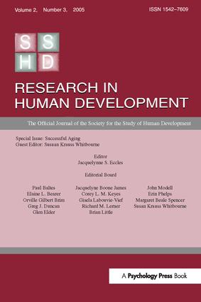 Successful Aging: A Special Issue of research in Human Development, 1st Edition (Hardback) book cover