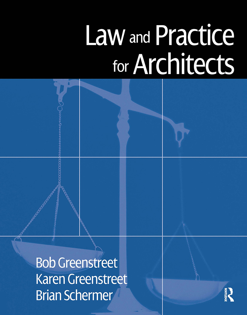 Law and Practice for Architects: 1st Edition (Hardback) book cover
