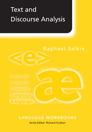 Text and Discourse Analysis