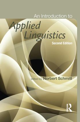 An Introduction to Applied Linguistics: 2nd Edition (Hardback) book cover