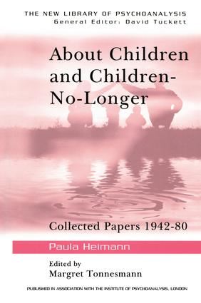 A contribution to the re-evaluation of the Oedipus complex—the early stages (1951/2a)