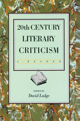 Twentieth Century Literary Criticism: A Reader, 1st Edition (Hardback) book cover