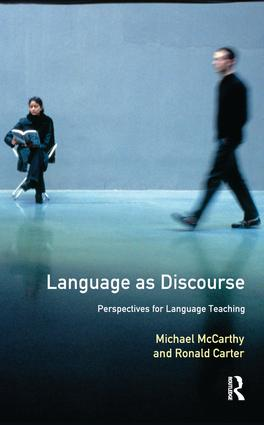 Language as Discourse: Perspectives for Language Teaching book cover