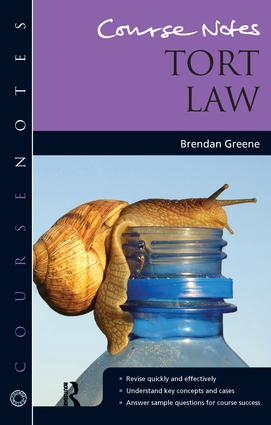 Course Notes: Tort Law book cover