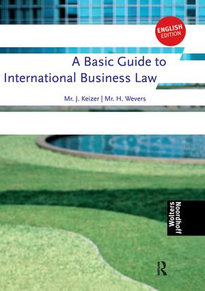 A Basic Guide to International Business Law: 1st Edition (Paperback) book cover