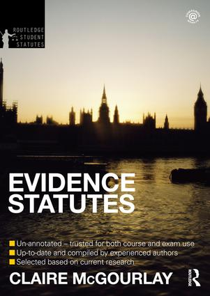 Evidence Statutes 2012-2013 book cover