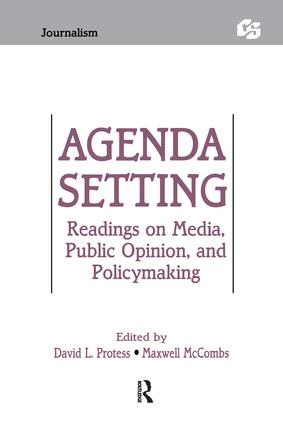 Agenda Setting: Readings on Media, Public Opinion, and Policymaking (Paperback) book cover