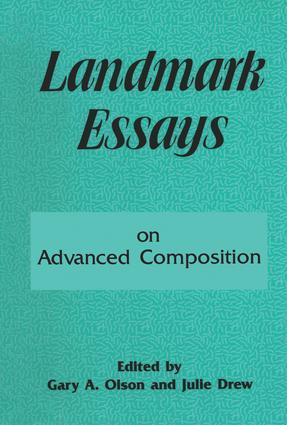 Landmark Essays on Advanced Composition: Volume 10 book cover