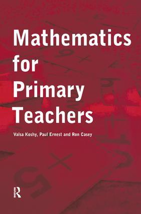 Mathematics For Primary Teachers: 1st Edition (Hardback) book cover