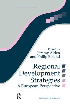 Regional Development Strategies: A European Perspective book cover