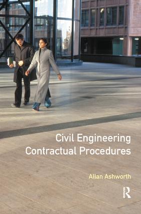 Civil Engineering Contractual Procedures: 1st Edition (Hardback) book cover