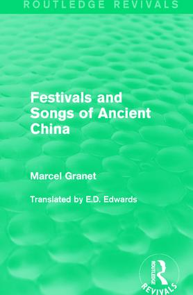 Festivals and Songs of Ancient China book cover