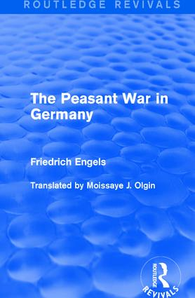 The Peasant War in Germany (Paperback) book cover