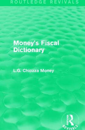 Money's Fiscal Dictionary: 1st Edition (e-Book) book cover