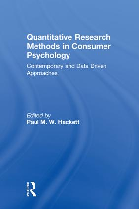 Quantitative Research Methods in Consumer Psychology: Contemporary and Data Driven Approaches book cover