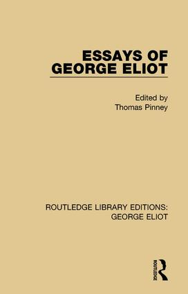 Essays of George Eliot book cover