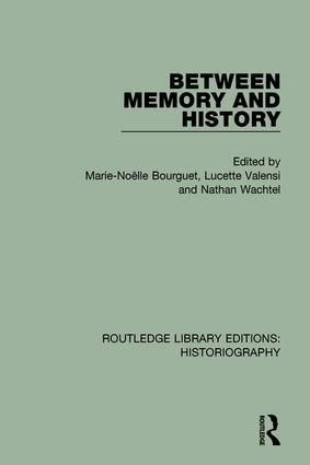 Between Memory and History book cover
