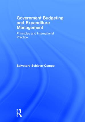Government Budgeting and Expenditure Management: Principles and International Practice book cover