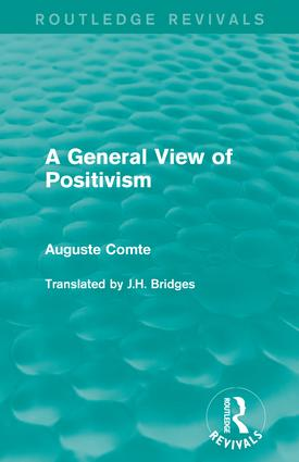 A General View of Positivism book cover