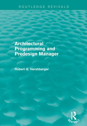 Architectural Programming and Predesign Manager book cover