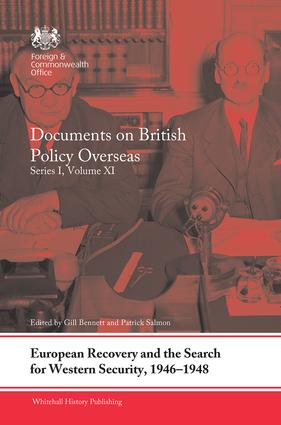 European Recovery and the Search for Western Security, 1946-1948: Documents on British Policy Overseas, Series I, Volume XI book cover
