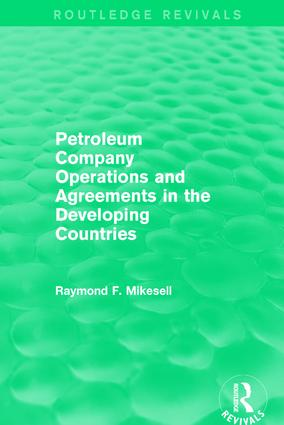 Petroleum Company Operations and Agreements in the Developing Countries book cover