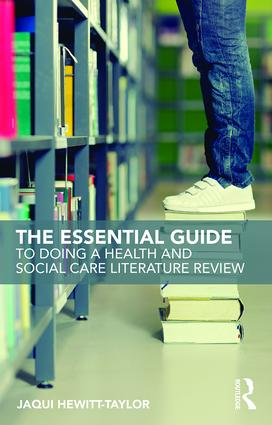 The Essential Guide to Doing a Health and Social Care Literature Review book cover