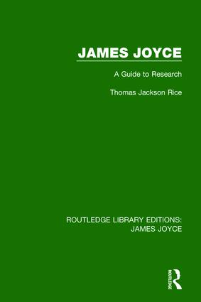 James Joyce: A Guide to Research book cover