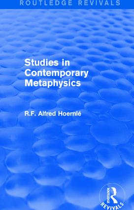 Studies in Contemporary Metaphysics book cover